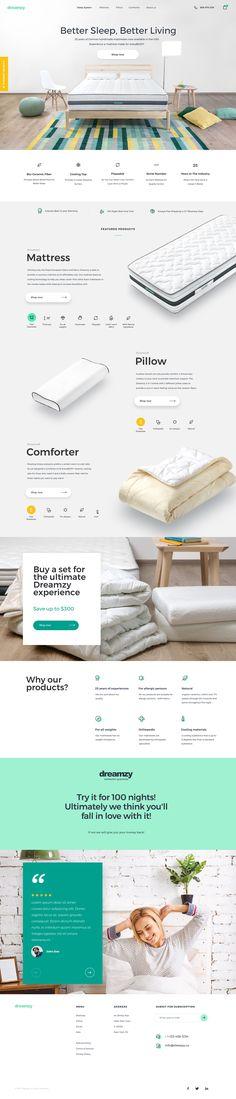 Mattress E-commerce – Inspire Design Layout Design, Logo Design, Web Layout, App Design, Cool Web Design, Web Design Gallery, Ecommerce, Web Responsive, Website Design Inspiration