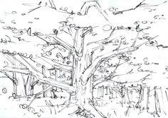 森 木 ラフスケッチ rough sketch by WatanabeMarico
