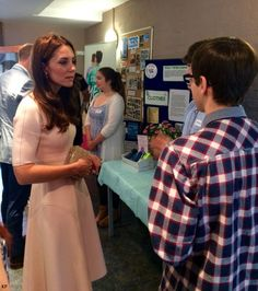 hrhduchesskate:  Visit to Cornwall, September 1, 2016-Duchess of Cambridge chats with people during a visit to Zebs, a youth centre operated by Young People Cornwall, which encourages 11-25 year-olds to reach their full potential