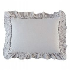 Timeless fabric and gorgeous ruffles give the Bella Notte Linen Whisper Pillow Sham an heirloom quality. linen with ruffle trim and Ships For Free when ordering from The Bella Cottage. Farmhouse Furniture, Living Furniture, Pillow Shams, Bed Pillows, Living Styles, Lavender Fields, Just Relax, How To Make Bows, French Country