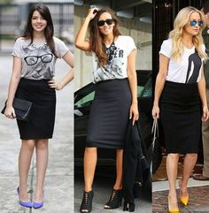 Office Fashion, Work Fashion, Skirt Fashion, Fashion Outfits, Womens Fashion, Black Pencil Skirt Outfit, Pencil Skirt Outfits, High Waisted Pencil Skirt, Look Office