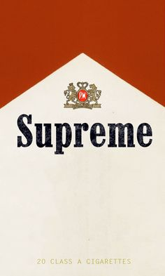 This was am early thing i made for fun. i liked both the designs of supreme and marlboro, so why not mix it into a wallpaper? so thats what i did! i couldn't decide if i liked the top better dark or light, maybe you know? but this works too. :)