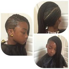 Must-try Braided Hairstyles – Lavish Braids Little Girl Braids, Black Girl Braids, Braids For Kids, Girls Braids, Little Girl Hairstyles, Side Braids, Braids Cornrows, Teenage Hairstyles, Plaits