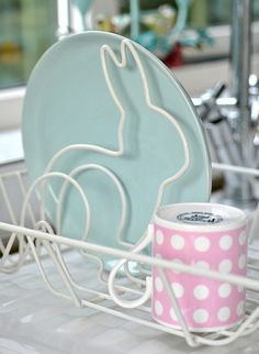 Bunny dish drainer. So cute!