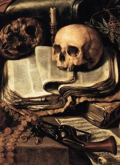 The Knight's Dream (detail) Antonio de Pereda Danse Macabre, Vanitas Paintings, Art Paintings, Memento Mori Art, Vanitas Vanitatum, Dark Artwork, Skull Art, Art And Architecture, Les Oeuvres