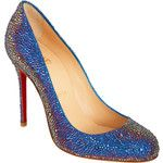 Christian Louboutin shoes...sparkly AND cobalt blue