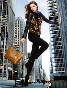 Coca Rocha is extremely tall in Longchamp Fall 2013 campaign