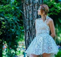 Vestido de papel Iáskara Isadora