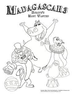 Madagascar Coloring sheets @doodlesave.com