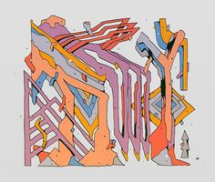 kirill nazin, vibrant, colorful, trippy, abstract, bold, energetic, vibrant, upper playground
