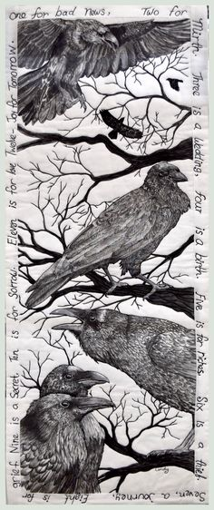 Raven Quilt By Textile Artist and Art Quilter Cindy Watkins