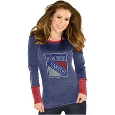 Touch by Alyssa Milano New York Rangers Ladies Quick Pass Thermal - Royal Blue