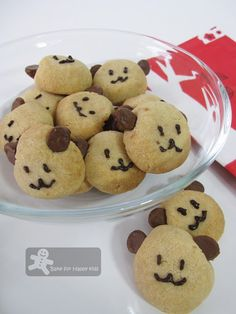 Teddy Bear/Dog face cookies with malt powder