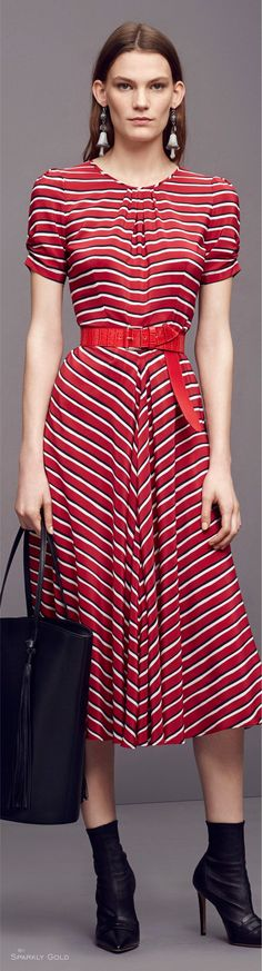 Altuzarra Pre-Fall 2016 red dress  women fashion outfit clothing style apparel @roressclothes closet ideas