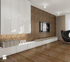 Salon z aneksem kuchennym i jadalnią - zdjęcie od Interium Projekt
