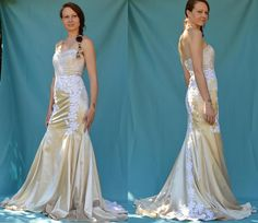 Wedding Gown Sizes, Wedding Gowns, Satin Gown, Prom Dresses, Formal Dresses, Trumpet, Ladies Fashion, Dress Ideas, White Lace