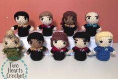 Boldly going where no one has gone before, this is a series of mini amigurumi patterns from the following Star Trek TV series: The Original Series, The Next Generation, Deep Space Nine, and Voyager…