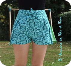 un petit short pour la plage et son patron gratuit ! (couture) - L'armoire de Léo et Lisa, un blog de maman