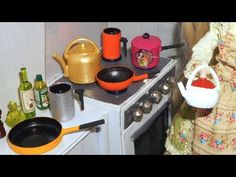 How to make cookware (teapot, frypan, kettle, milk pan) for doll (Monster High, Barbie, etc) - YouTube