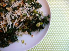 Kale and brussel sprout salad