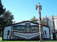 Sea Monster House, built by Chief Mungo Martin, Royal BC Museum, Victoria, BC