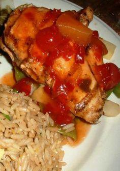 """Makahiki Luau Hawaiian Chicken"" at SeaWorld Orlando. So easy and delicious!"
