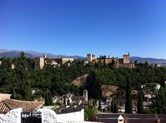Carmen. You will hear this word when you arrive to Granada. These buildings called Carmen are dotted over the city of Granada. Alhambra views and gard