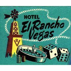 El Rancho Vegas Casino Vintage Matchbook ~ Las Vegas Strip