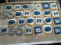 Penn state fan  50th birthday cookies