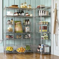 Love the pull-out baskets/organizers. Could be used in the laundry room too, Jen ;)