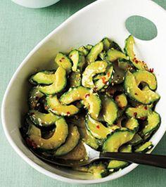 Sesame-Miso Cucumber Salad Cucumber Recipes, Cucumber Salad, Salad Recipes, Juicer Recipes, Vegetarian Recipes, Cooking Recipes, Healthy Recipes, Delicious Recipes, Cooking Tips