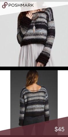 Bell Sleeve Crop Sweater Free People Cropped Bell Sleeve Sweater. Free People Sweaters