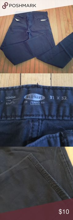 Men's Old Navy brand 31 x 32 size jeans Men's Old Navy gray 31 x 32 pair of skinny jeans. Little wear. Old Navy Jeans