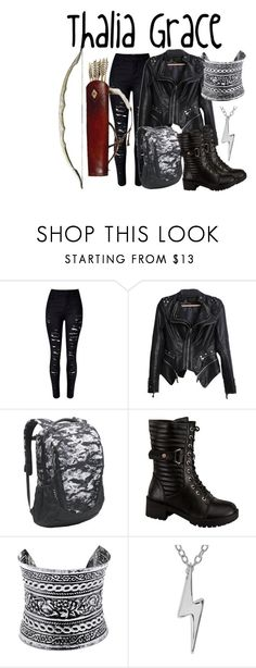 """""""Thalia Grace"""" by aquatic-angel ❤ liked on Polyvore featuring WithChic, The North Face, Wild Diva, LULUS and Journee Collection"""