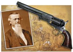 Confederate Gen. George Dibrell and his Colt Model 1851 Navy .36-caliber revolver are shown |  Images from the Library of Congress, including a drawing by Alfred Waud | The White County Heritage Museum in Dibrell's hometown of Sparta, Tennessee recently purchased the firearm from a private collector with the help of a $10,000 donation from an anonymous Knoxville-area resident.