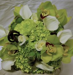 Orchids, hydrangea, calla lily, poppy pods, & ferns #winecountryweddings #sonomaweddings #napaweddings #bridal bouquets