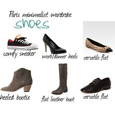 """""""Paris Minimalism Project - Shoes"""" by lasarita on Polyvore"""