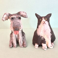 Pet commission - Molly and Bella, by ceramic snippets