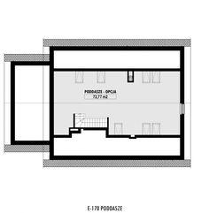E-170 - E-DOMY.pl Projekty domów jednorodzinnych, piętrowych, energooszczędnych.