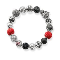 Thomas Sabo Karma beads:siver/pave/obsidian/red rose/dragon