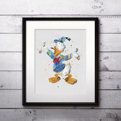 Donald Duck art Disney Artwork, Donald Duck Print, Donald Duck Poster, Disney