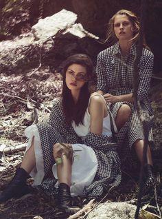 Teresa Palmer & Phoebe Tonkin by Will Davidson for Vogue Australia March 2015 Bottega Veneta