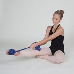 How to Get Beautiful Dancer's Feet: Thera-Band Stretch