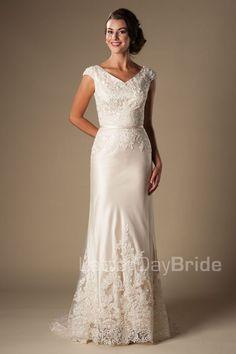 'Bronwin' modest wedding gown, modest bride, modest wedding, wedding ideas