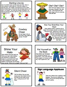 """We do a cheer every morning after we say our """"popcorn words"""" (sight words).  The kids love it and don't let me forget to do it!"""