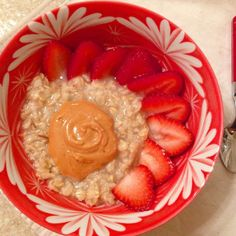 "Oatmeal with vanilla peanut butta and strawberries just wanted to swing by this morning and offer some words from my brain... which is probably unnecessary but I like to write so here we go -----> at the core it sort of seems like my problems revolve around food but food is innocent the ""problem"" is in my head and although small and quiet remnants will be there for me for a long time that's no reason to say ""screw it I'm not even trying if that's how it's going to be."" As I become more…"
