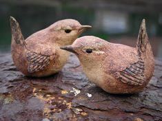 Clay Birds, Ceramic Birds, Ceramic Animals, Clay Animals, Ceramic Pottery, Ceramic Art, Pottery Sculpture, Bird Sculpture, Animal Sculptures