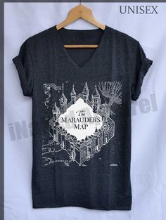 Marauder's Map Hogwarts Shirts Harry Potter by iNakedapparel, $15.99