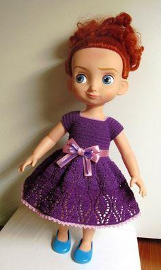 Doll Clothes / Disney Animator Doll Merida / Crochet