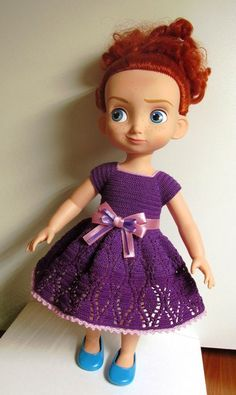 Doll Clothes / Disney Animator Doll Merida / Crochet